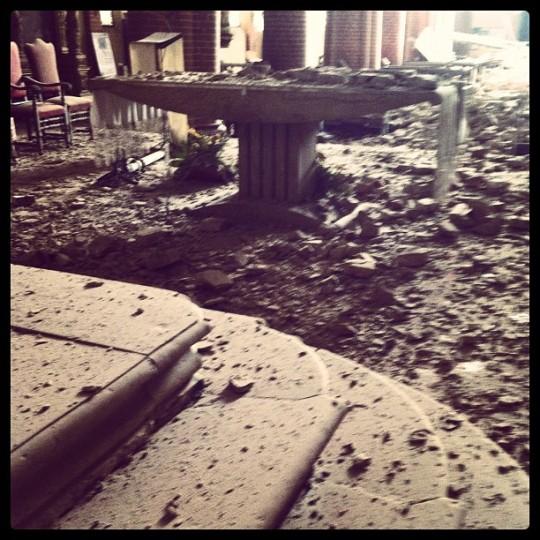 prime foto del crollo del duomoo di Mirandola a Modena terremoto 29 maggio 2012 - 29/5/2012
