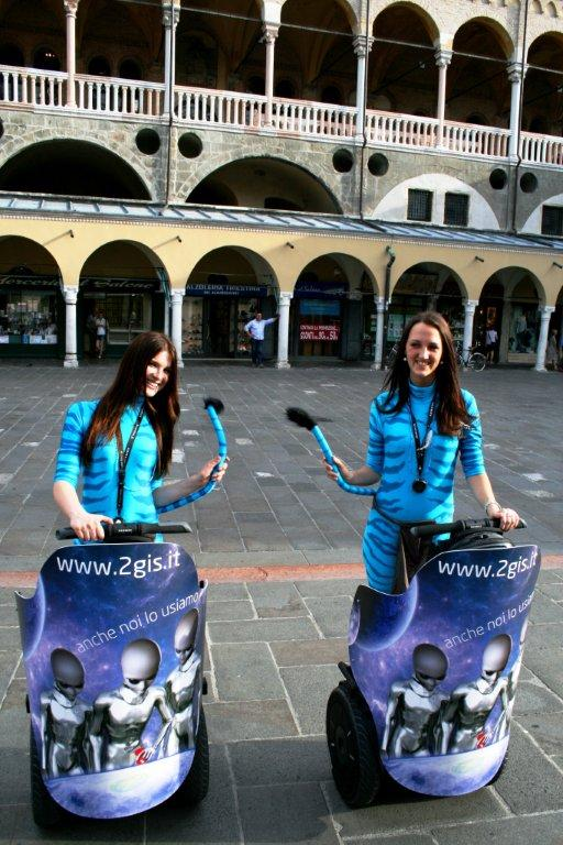 2GIS marketing non convenzionale guerrilla marketing a Padova - alieni avatar acnhe noi lo usiamo