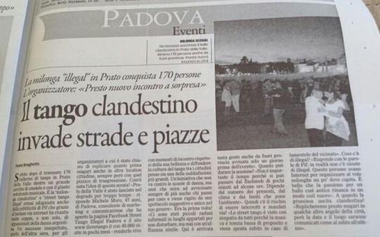 Street Tango illegal Padova Prato dela valle 16 luglio 2014