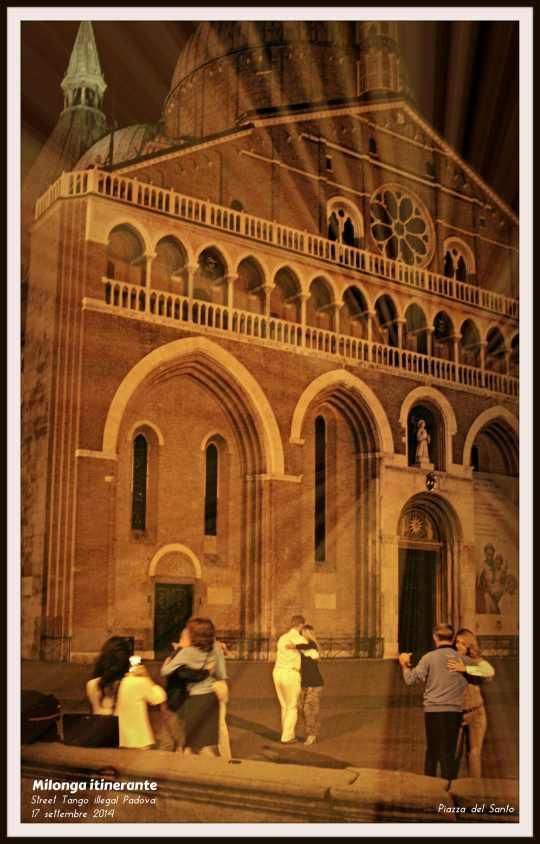 Milonga itinerante PADOVA - 17 settembre 2014 - Street Tango illegal Padova - Piazza del Santo